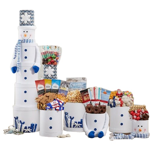 Unique Snowman Gift Tower for Christmas
