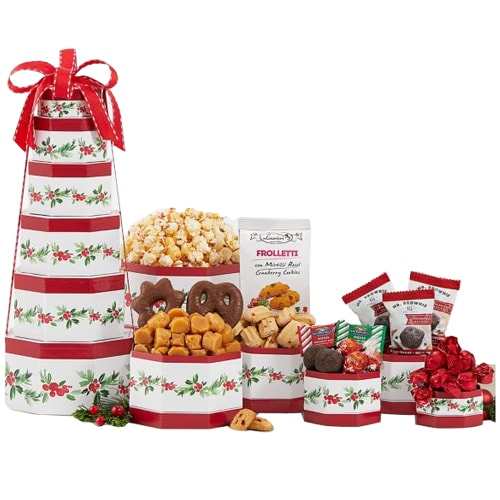 Christmas Season Chocolate Gift Tower