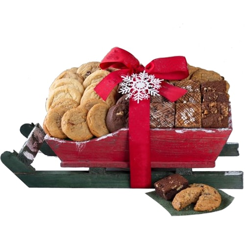 Christmas Time Cookie and Brownie Sleigh