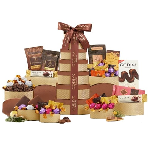 Indulgent Choco Wonders Gift Tower from Godiva