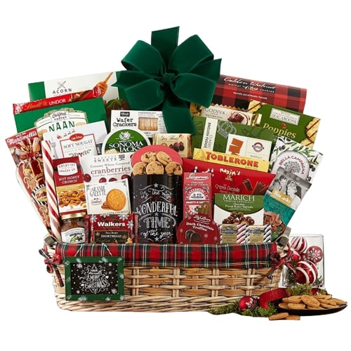 Holiday Delight Gift Basket of Assortments