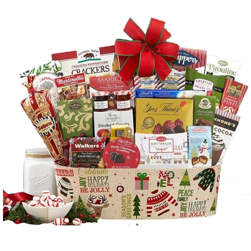 Delightful Deck The Halls Gift Basket