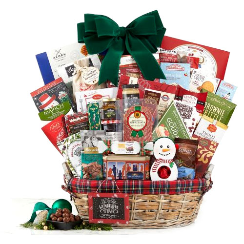 Classy Gourmet Selection Gift Basket for Joyous Christmas