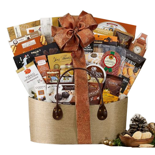 Captivating Gourmet Abundance Gift Basket