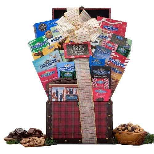 Chocoholics Feast Ghirardelli Chocolates Gift Basket