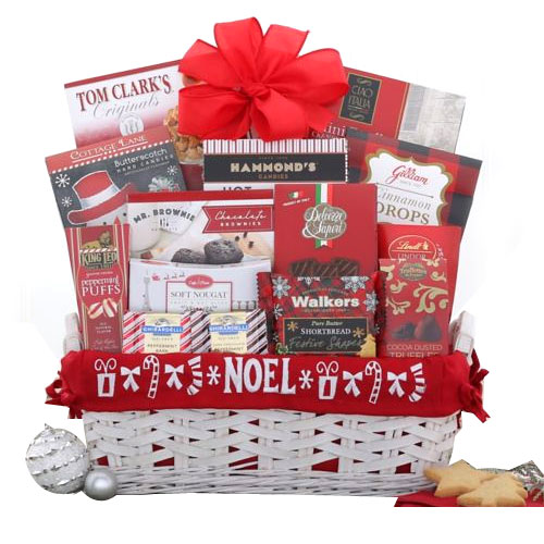 Cheerful Merry Christmas Wishes Gift Basket