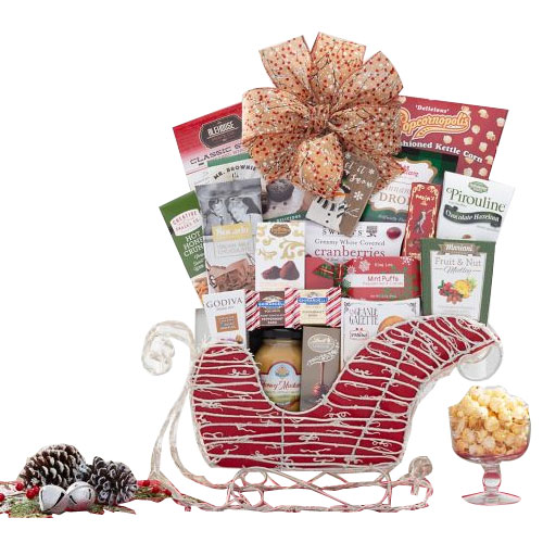 Sumptuous Santas Sleigh of Cookies n Chocolate Assortments �
