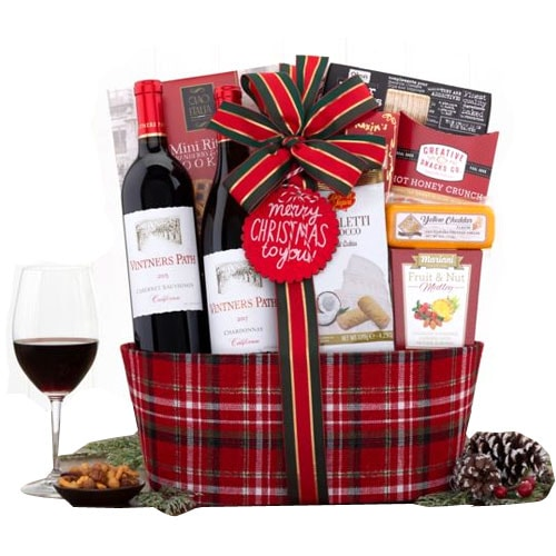 Holiday Gift Basket of California Wine Duo