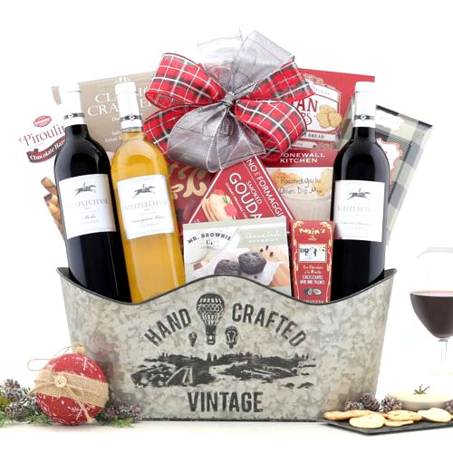 Sophisticated Steeplechase California Wine Basket