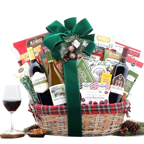 Slightly-Candied Wine Trio Gift Basket