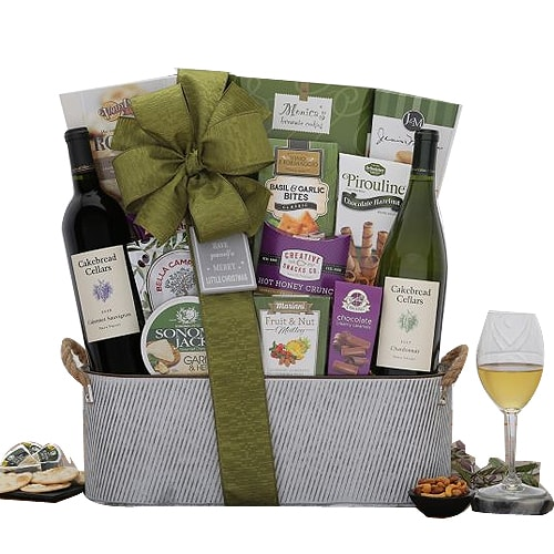 Classic Napa Valley Duet Wine Basket