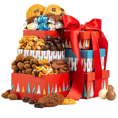 Christmas Special Tower of Chocolate N Cookies