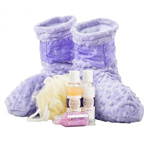 Radiating Warmth Spa Booties N Lavender Aromatherapy Hamper