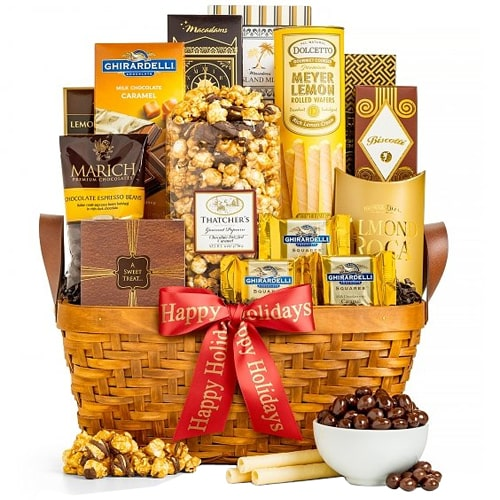 Golden Collection Basket of Gourmet Sweets N Delicacy