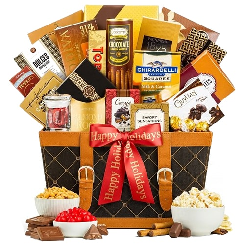 Sophisticated Thank You Gift Basket with Lots