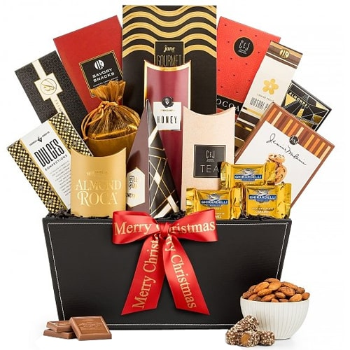 Eclectic Happy Holidays Gourmet Selection Gift Basket
