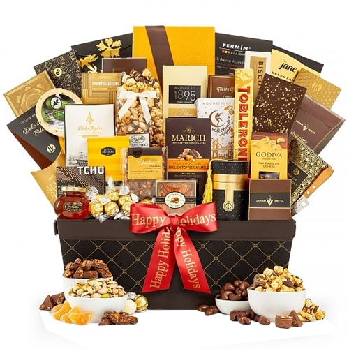 Blissful Holiday Greeting Chocolate Gift Hamper
