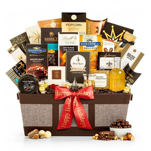 Plentiful Gift Basket of Gourmet Delights