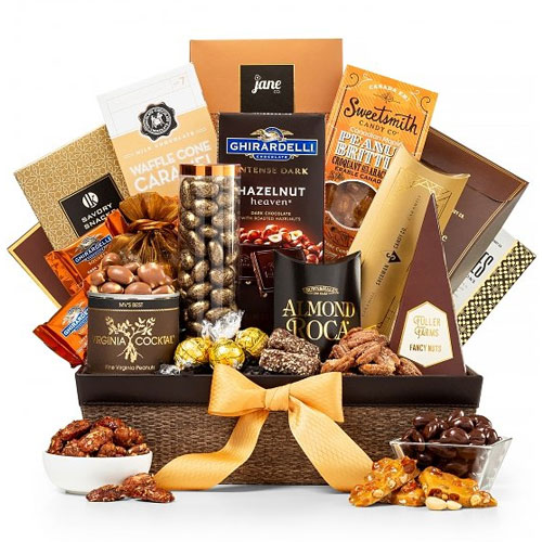 Cherished Basket Hamper Chocolates N Nutty Delight