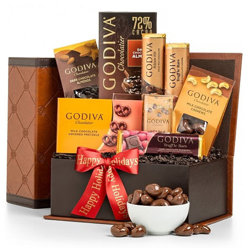 Happy Holidays Godiva Chocolate Collections Hamper