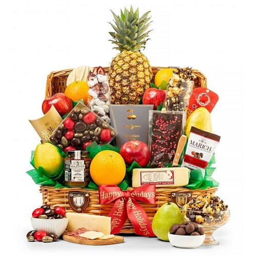 Ultimate Holiday Gift Basket of Fruits N Lots