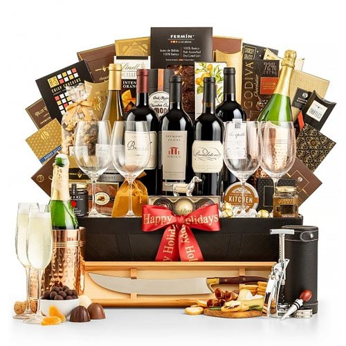 The Ultimate Wine N Gourmet Gift Basket