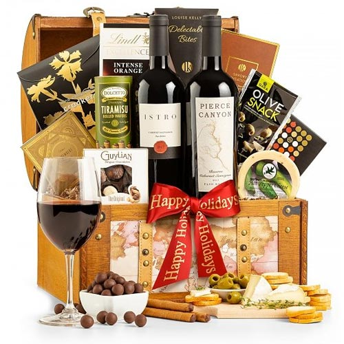 Unforgettable Global Fare Wine Gift Basket