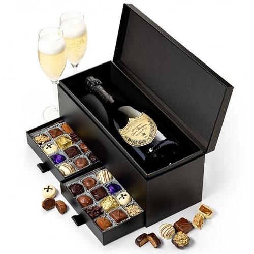 Finest Selection Champagne and Gourmet Chocolates Combo Pack