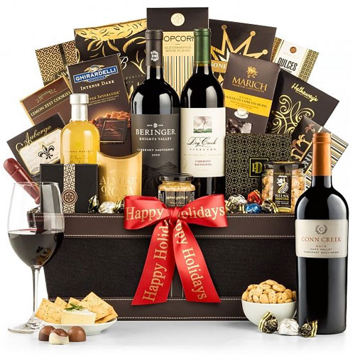 Intense Wine, Sweets and Savory Fare Gift Hamper