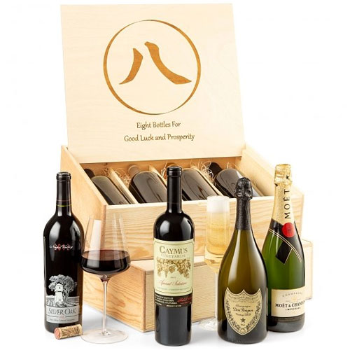 Signature Wine Crate of 8 Sommeliers Finest Wine