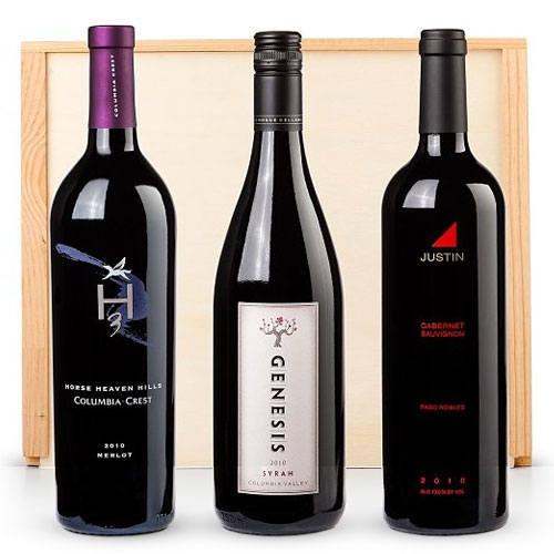 Signature Wine Crate of American Red Wine Trio