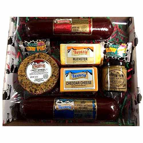 Elegant Hamper of Cheese n Sausages Delights