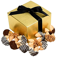 Yummy One Dozen Chocolate Dipped Fortune Cookies Gift basket