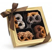 Extraordinary One Dozen Chocolate Covered Pretzel Twists<br>