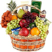 Entertaining Holiday Extravagance Fruit N Gourmet Basket<br>