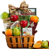 Sumptuous Fruit and Favorites Gift Basket