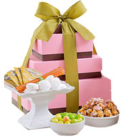 Heavenly Fruit and Sweets Tower Gift Hamper