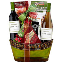 Yummy Little Lakes Cellars Double Delight Gift Basket