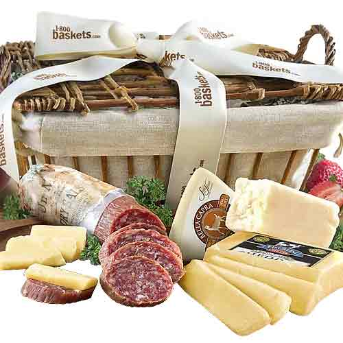 Delightful Xmas Celebration Food Assortments Basket