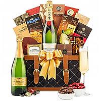 Bright Happy Holidays Champagne Basket