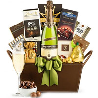 Sophisticated Festive Greetings Gift Basket