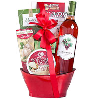 Gorgeous Edenbrook Vineyards White Zinfandel Gift Basket<br>