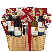 Joyful Holiday Delicacy Wine Gift Basket