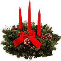 Fragrant Classic 3 Candle Centerpiece <br>