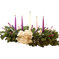 Luminous Christmas Grace Advent 5 Candle Centerpiece<br>