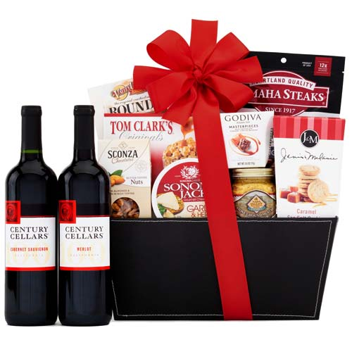 Breathtaking BV Century Cellars Duet Red Wine Gift Basket
