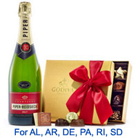 Dreamy Champagne and Godiva Chocolates Pack