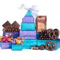 Godiva Truffle and Rocky Mountain Chocolate Tower