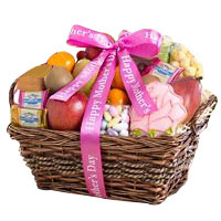 Mother's Day Fruit and Sweets Gift Basket