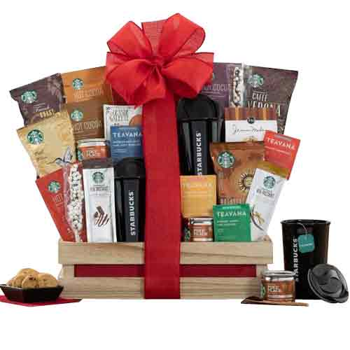 Energetic Tea, Coffee N Cookies Starbucks Delight Gift Hamper